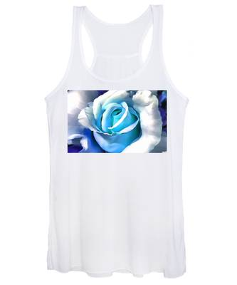 Turquoise Rose Women's Tank Top