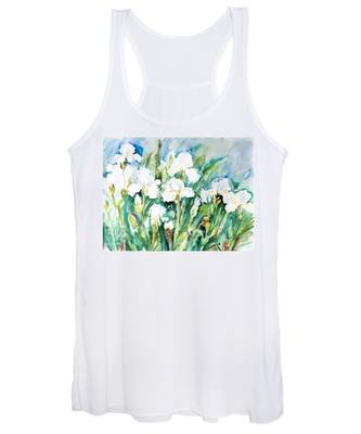 White Irises Women's Tank Top
