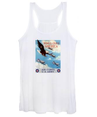 Us Air Force Women's Tank Tops