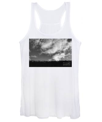 Winter Clouds Over The Delaware River Women's Tank Top