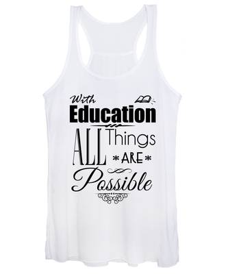 With Education Women's Tank Top