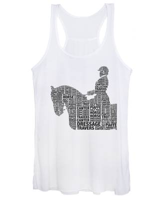Women's Tank Top featuring the photograph Dressage Terms by Alice Gipson