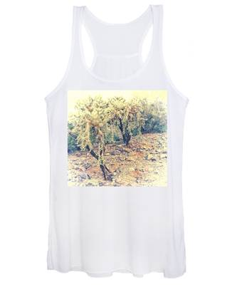 Women's Tank Top featuring the photograph Chain Fruit Cholla by Judy Kennedy