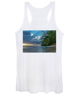 Negril Beach Sunburst At Sunset Women's Tank Top