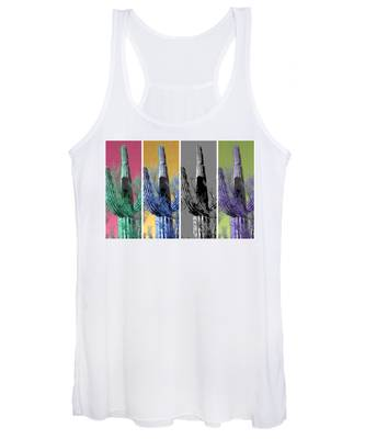 Women's Tank Top featuring the photograph Pop Saguaro Cactus by Judy Kennedy