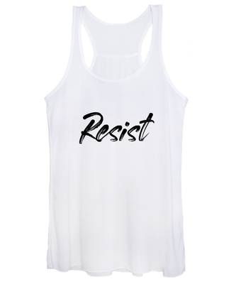 Resist - Black On White Women's Tank Top
