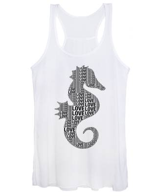 Women's Tank Top featuring the digital art Seahorse Love by Alice Gipson