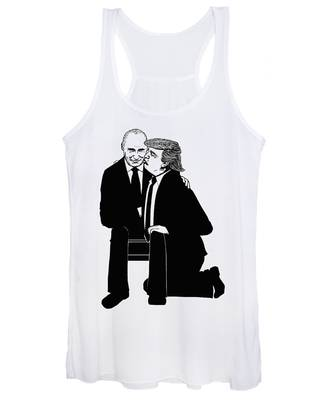 Trump On Knees Women's Tank Top