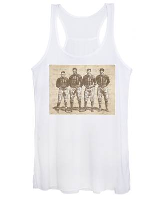 Vintage Football Heroes Women's Tank Top