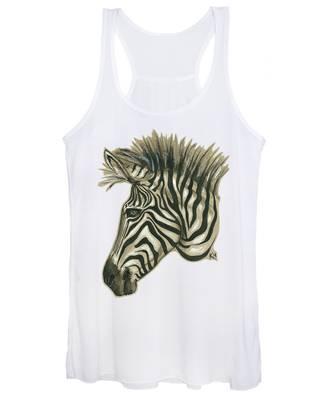 Zebra Profile Women's Tank Top