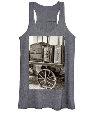 Train Station Luggage Cart Women's Tank Top