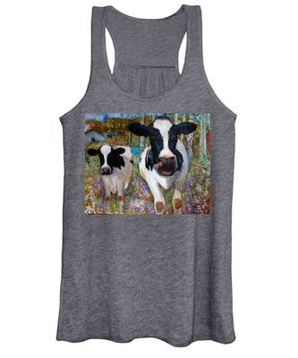 Up Front Cows Women's Tank Top