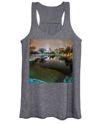 Charlotte Nc Skyline Covered In Snow In January 2014 Women's Tank Top