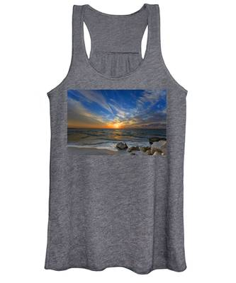A Majestic Sunset At The Port Women's Tank Top