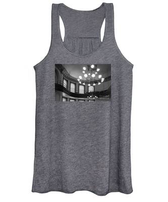 Antique Chandelier In Old Courtroom Women's Tank Top