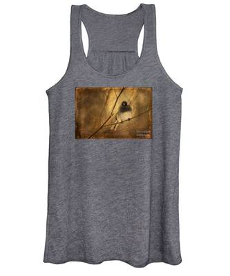 Backlit Birdie Being Buffeted  Women's Tank Top