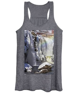 Great Falls And A Rainbow Women's Tank Top