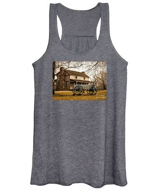 Old Log Cabin In Autumn Women's Tank Top