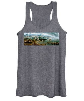 Panorama With The Abduction Of Helen Amidst The Wonders Of The Ancient World Women's Tank Top