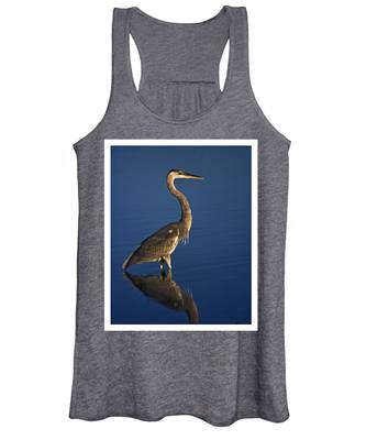 Red Heron Wading Women's Tank Top