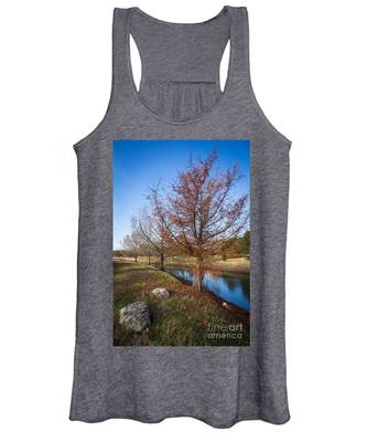 River And Winter Trees Women's Tank Top