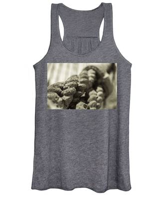 Spliced And Bound Black And White Sepia Women's Tank Top