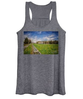 Stone Barn On A Spring Morning Women's Tank Top