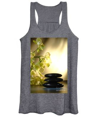 Stone Cairn And Orchids Women's Tank Top