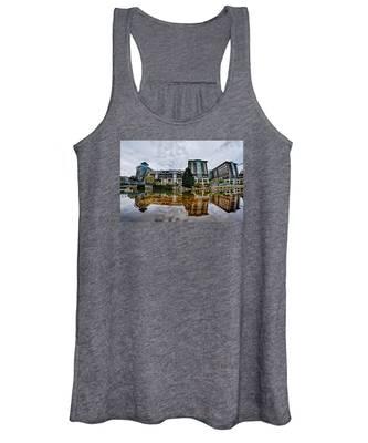 Downtown Of Greenville South Carolina Around Falls Park Women's Tank Top