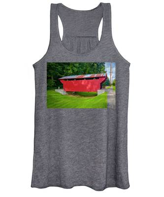 Feedwire Covered Bridge - Carillon Park Dayton Ohio Women's Tank Top