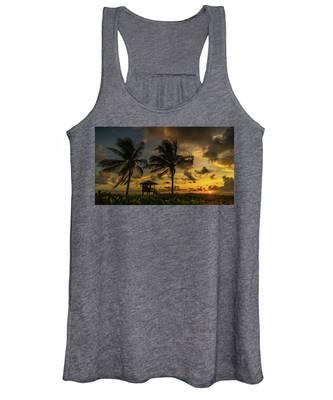 Two Palm Sunrise Delray Beach Florida Women's Tank Top