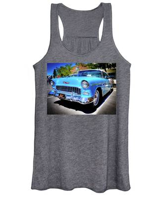 1955 Chevy Baby Blue Women's Tank Top