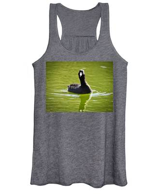 Women's Tank Top featuring the photograph American Coot Portrait by Judy Kennedy