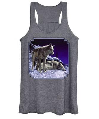 Gray Wolves Women's Tank Tops