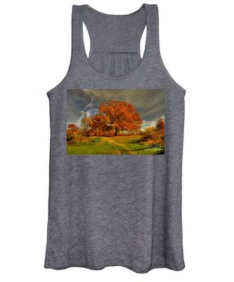 Autumn Picnic On The Hill Women's Tank Top