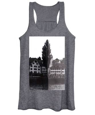Black And White Women's Tank Tops