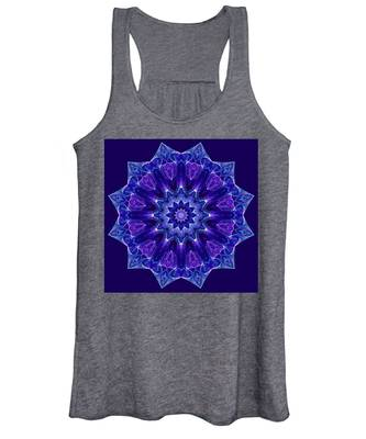 Blue And Purple Mandala Fractal Women's Tank Top