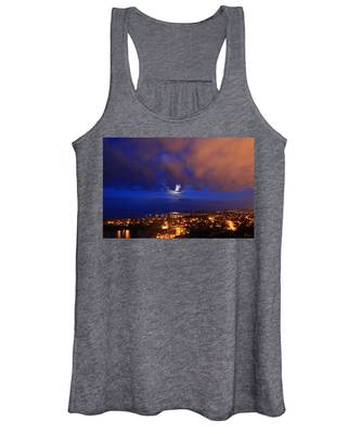 Women's Tank Top featuring the photograph Clouded Eclipse by Rasma Bertz