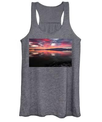 Colorful Utah Lake Sunset Women's Tank Top