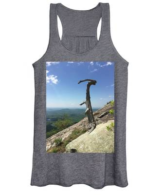 Decaying Tree At The Top Of Table Rock Trail South Carolina Women's Tank Top