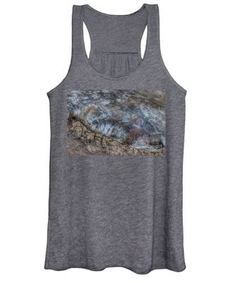 Delaware River Ice With Leaves Women's Tank Top