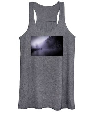 Early Morning On The Lower Mountain Fork River Women's Tank Top