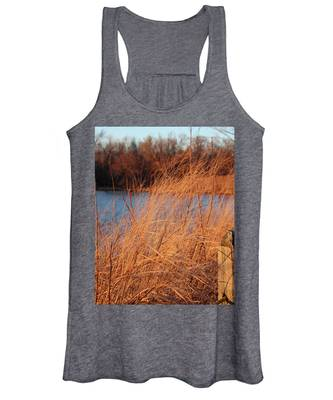 Amber Brush On The River Women's Tank Top