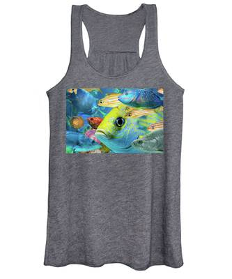 Fishy Collage 02 Women's Tank Top
