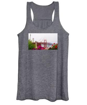 Golden Gate Bridge Flowers 2 Women's Tank Top