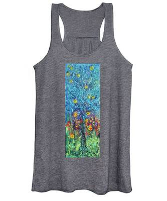 Moon Flowers Women's Tank Top