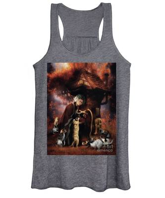 Old Lady Who Lived In A Shoe Women's Tank Top