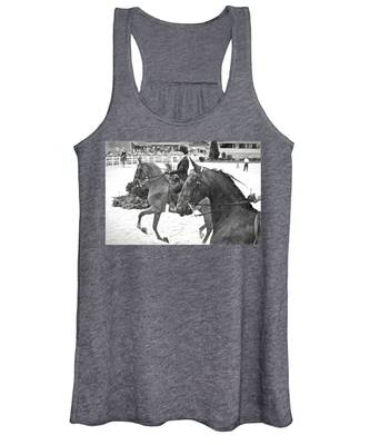 Women's Tank Top featuring the photograph On The Outside Charcoal by Alice Gipson