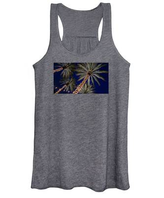 Palm Trees Wrapped In Lights Women's Tank Top