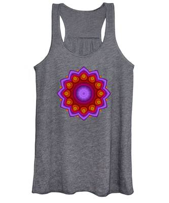 Peacock Fractal Flower Pretty Petals Women's Tank Top